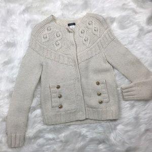 JCrew Handknit Gold Buttons Sweater/ Cardigans